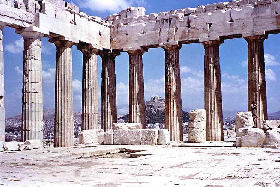 greek parthenon inside
