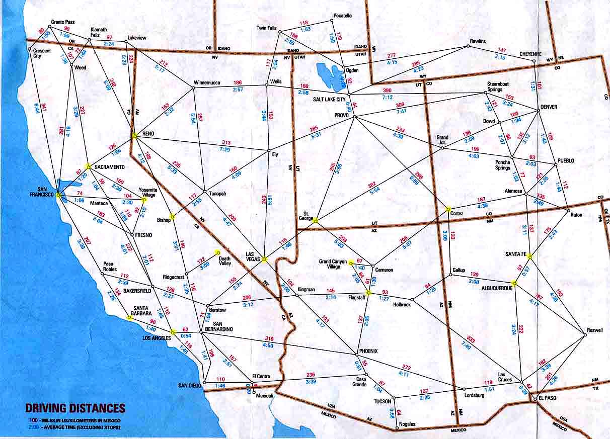 Usa Map Driving Distances New Us Map Driving Distances Save Us ...