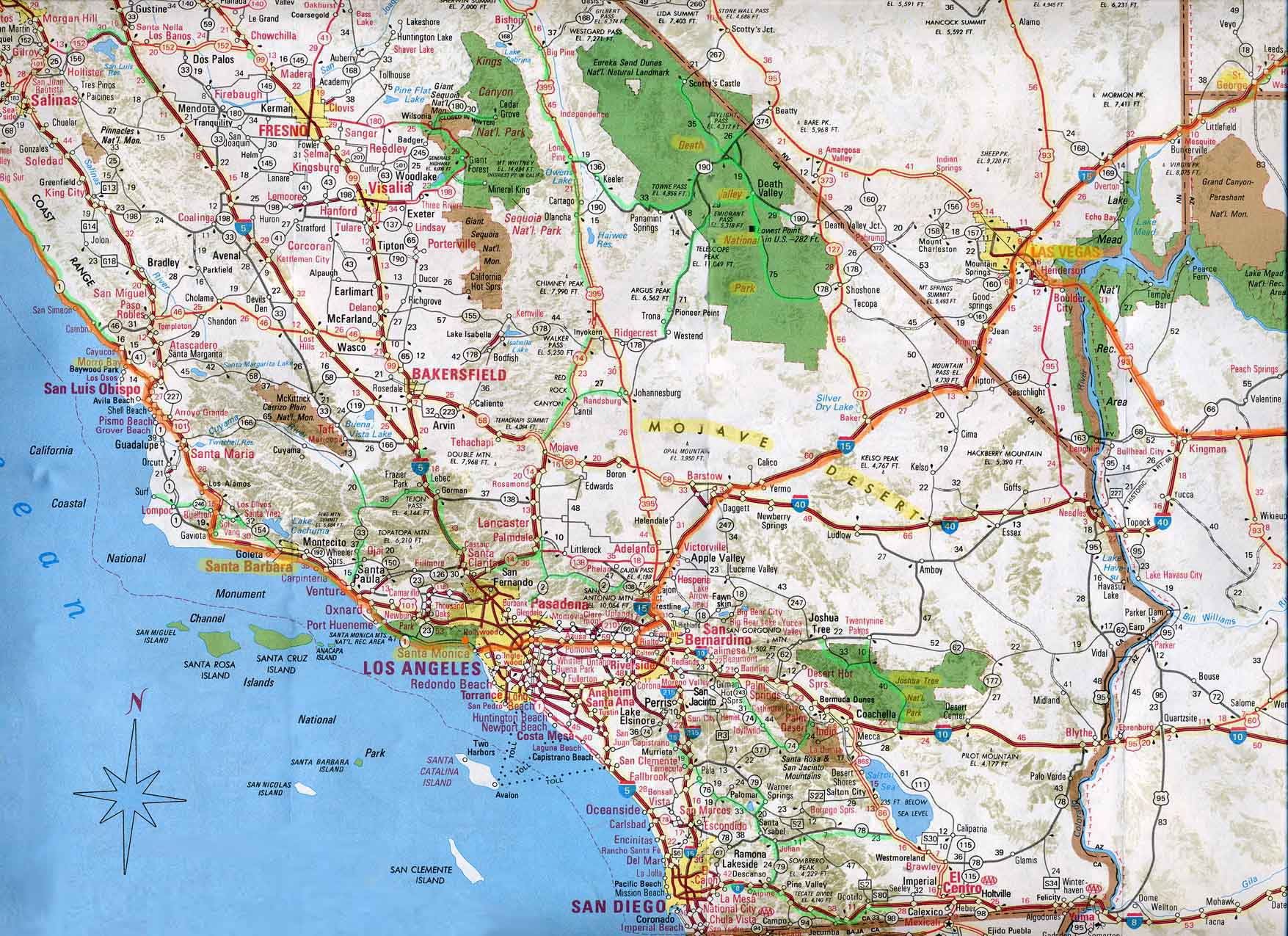 SouthernCaliforniajpg - Detailed map of california