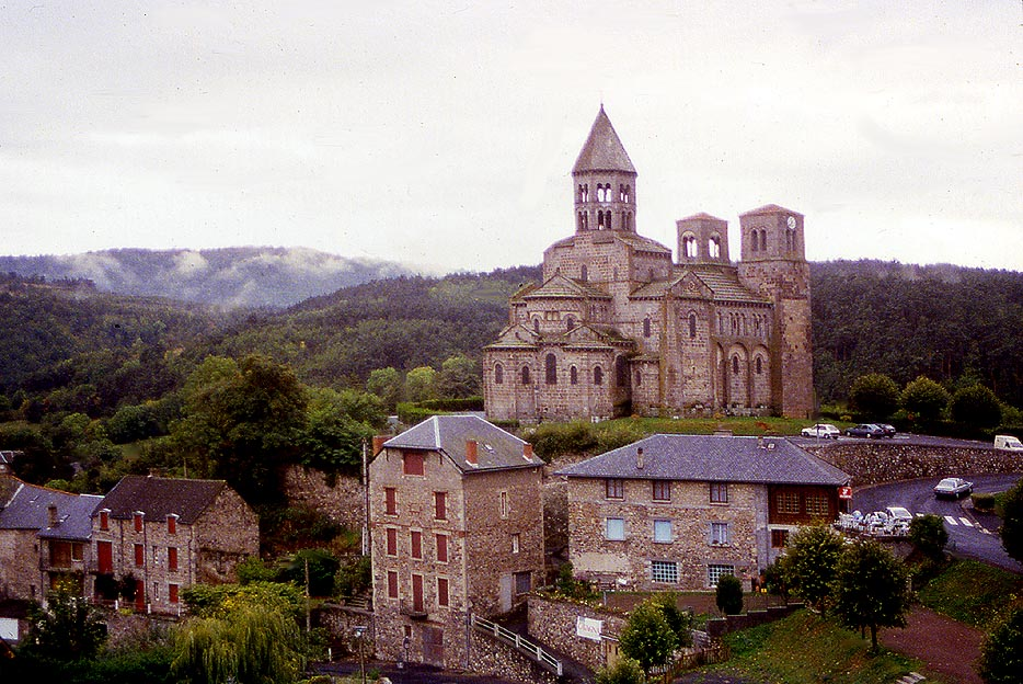 St nectaire le haut church and village