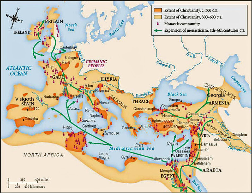role of roman emperors in the spread of christianity essay Christianity developed in the province of judea out of jewish tradition in the first century ce, spread through the roman empire, and eventually became its official religion christianity was influenced by the historical contexts in which it developed.