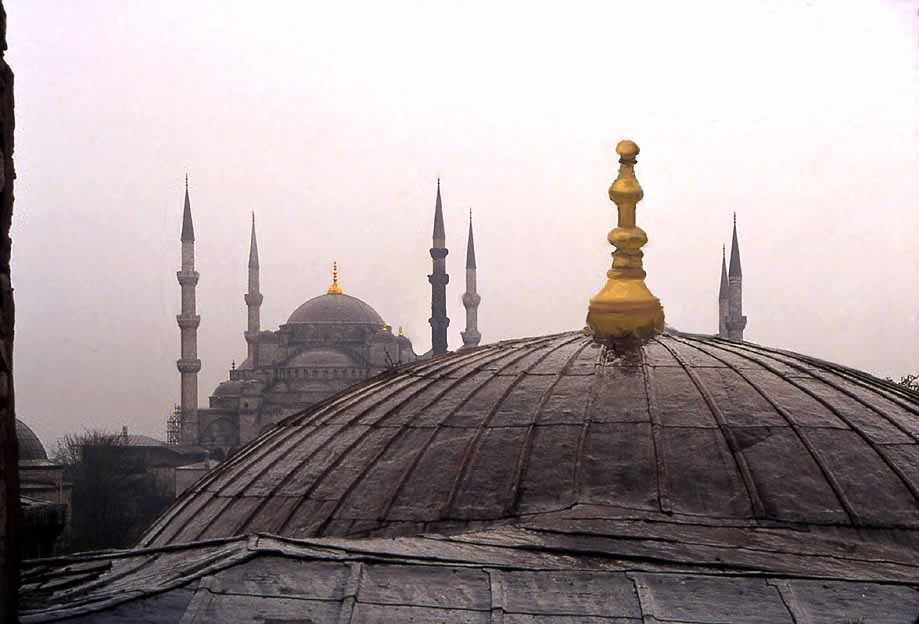 1990istsultanakhmedfrom aghsofiag sultan ahmed mosque seen from a window of the womens gallery in the aghia sofia photo rolf gross 1990 thecheapjerseys Image collections